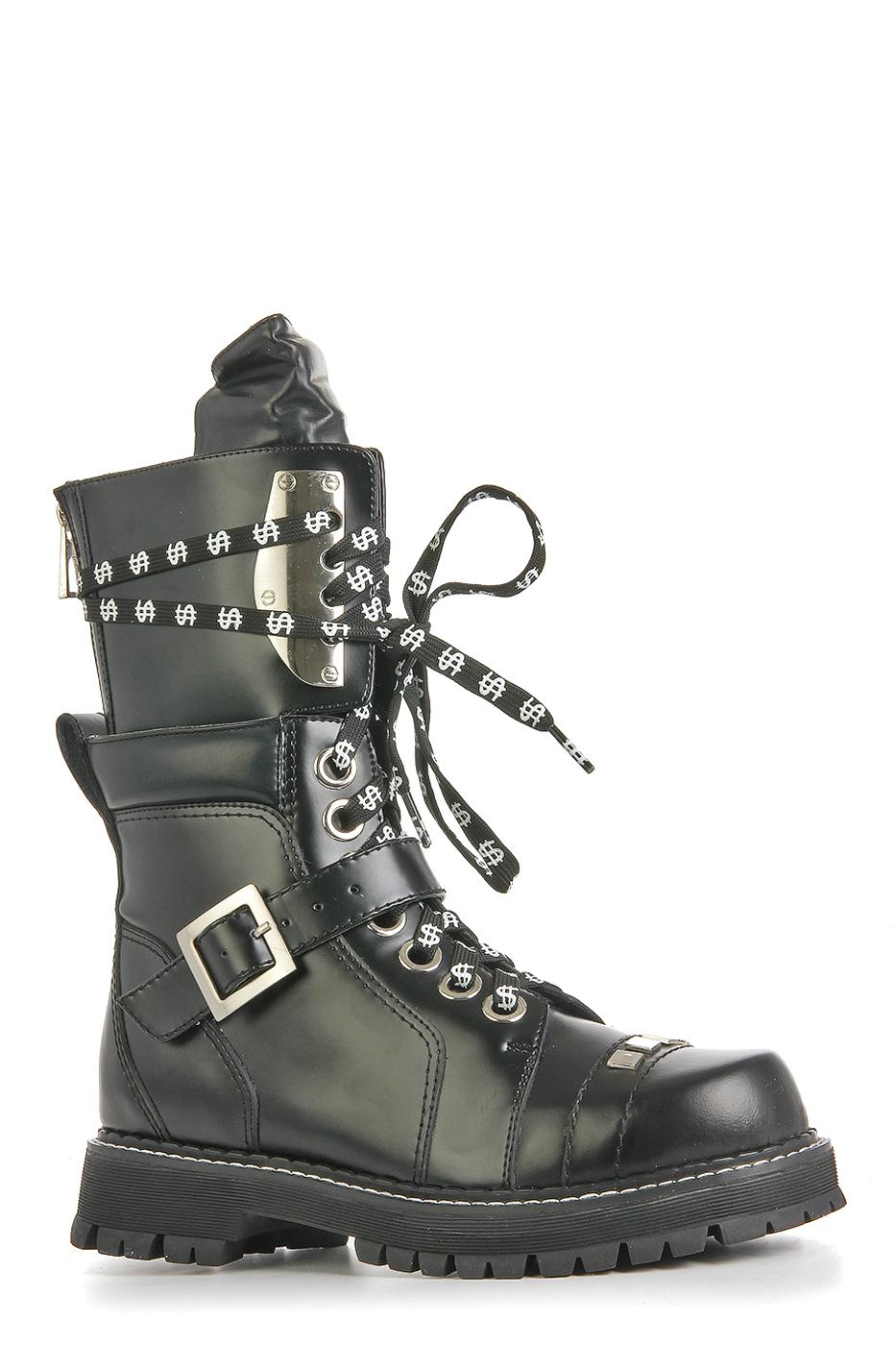 НАТУРАЛЬНАЯ КОЖА    Ботинки PREDATOR (K01-A6/BLACK)K01-A6/BLACK